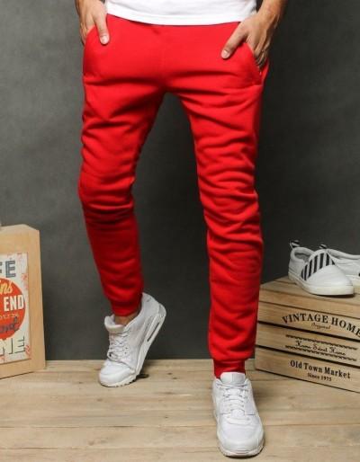 Červené pánské běžecké běžecké kalhoty červené UX2648