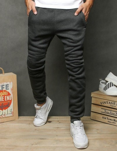 Pánské tmavě šedé běžecké kalhoty UX2651