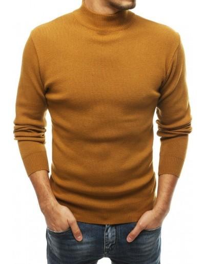Pánský svetr s vysokým krkem, velbloud WX1462