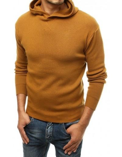 Pánský velbloudí svetr s kapucí WX1467