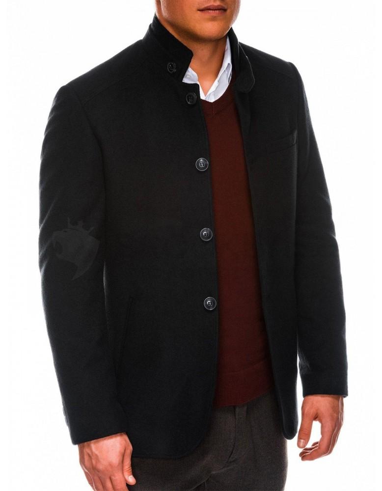 Pánský podzimní kabát C427 - černý