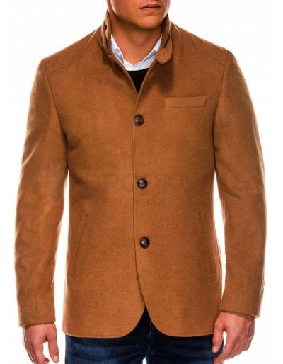 Pánský podzimní kabát C427 - velbloud