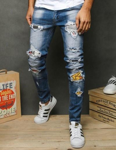 Pánské modré džínové kalhoty UX2653
