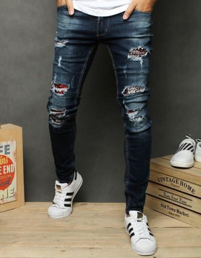Pánské modré džínové kalhoty UX2655