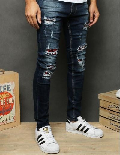 Spodnie męskie jeansowe niebieskie UX2655