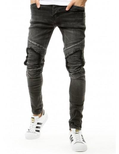 Tmavě šedé pánské riflové kalhoty UX2659