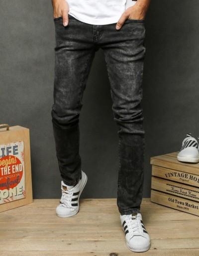 Šedé pánské džínové kalhoty UX2664
