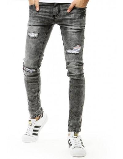 Šedé pánské džínové kalhoty UX2666