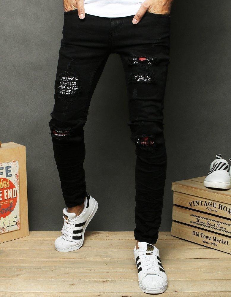 Černé pánské džínové kalhoty UX2675