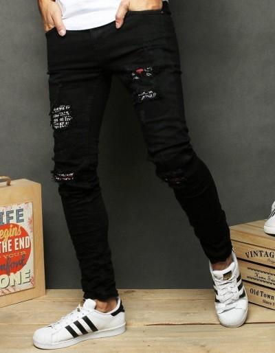 Spodnie męskie jeansowe czarne UX2675
