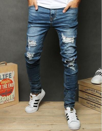 Pánské modré džínové kalhoty UX2676