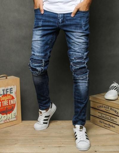 Pánské modré džínové kalhoty UX2678