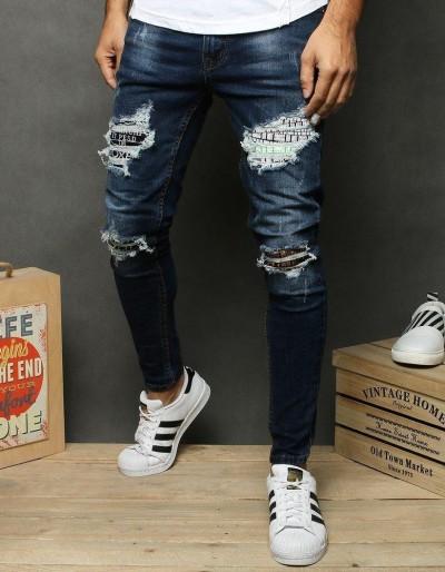 Tmavě modré pánské džíny UX2679