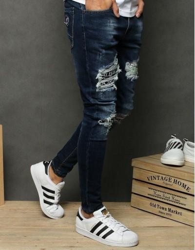 Spodnie męskie jeansowe granatowe UX2679