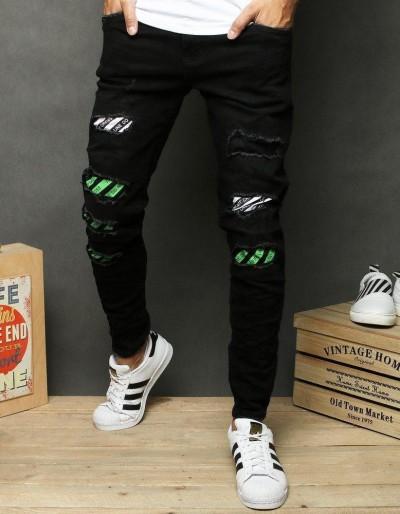 Černé pánské džínové kalhoty UX2681