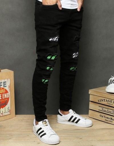 Spodnie męskie jeansowe czarne UX2681