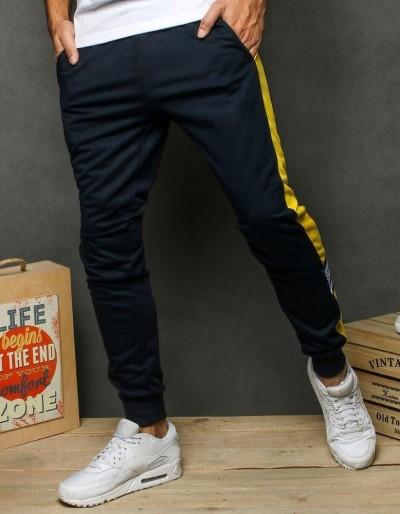 Pánské tmavě modré běžecké kalhoty UX2684