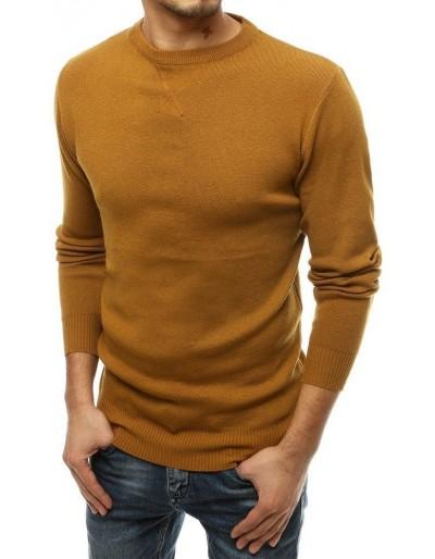 Pánský svetr, navléknutý přes hlavu, velbloud WX1498