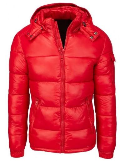 Červená pánská prošívaná zimní bunda TX3534