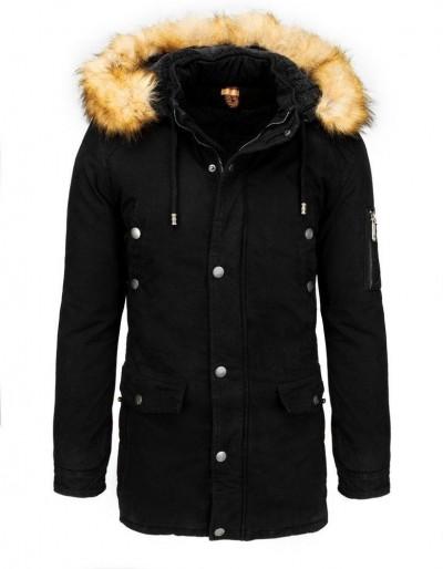Pánská černá zimní parka bunda TX3539