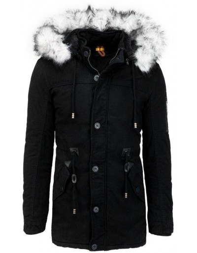 Pánská černá zimní parka bunda TX3540
