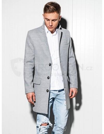 Pánský kabát C432 - šedý