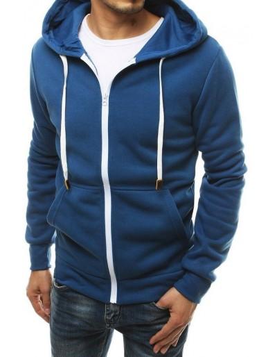 Pánská modrá mikina na zip BX4758