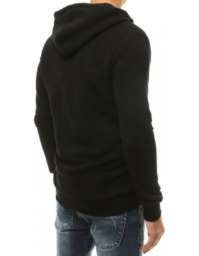 Bluza męska rozpinana z kapturem czarna BX4766