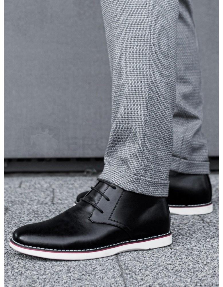 Pánská obuv z přírodní kůže T318 - černá