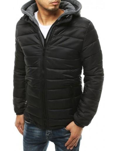Černá pánská prošívaná bunda s kapucí TX3541