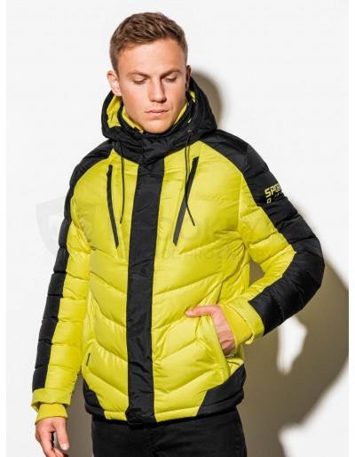 Pánská zimní bunda C417 - žlutá