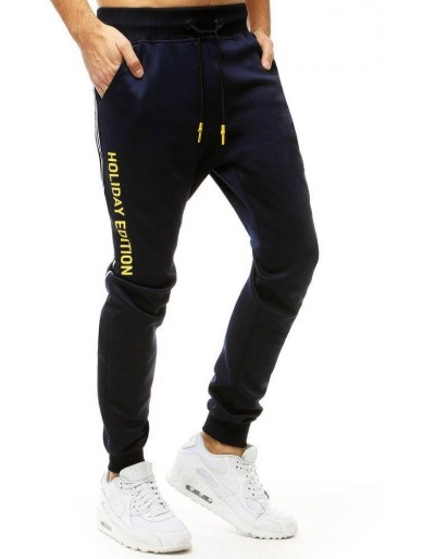 Pánské tmavě modré běžecké kalhoty UX2697