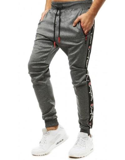 Pánské tmavě šedé běžecké kalhoty UX2699
