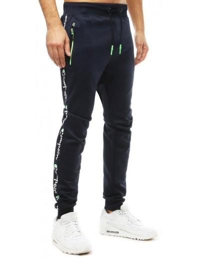 Spodnie męskie dresowe joggery granatowe UX2700