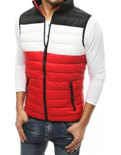 Červená pánská prošívaná vesta TX3550