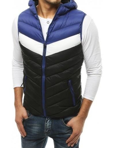 Pánská prošívaná vesta s kapucí černá TX3556