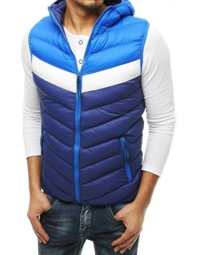 Pánská prošívaná vesta s kapucí Navy Blue TX3557