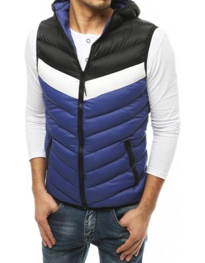 Pánská prošívaná vesta s kapucí Navy Blue TX3559