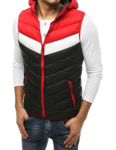 Pánská prošívaná vesta s kapucí černá TX3560
