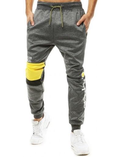 Tmavě šedé pánské běžecké kalhoty UX2703