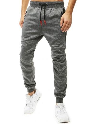 Tmavě šedé pánské běžecké kalhoty UX2704