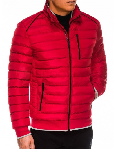 Pánská zimní prošívaná bunda C422 - červená