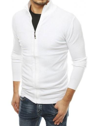 Pánský bílý svetr na zip WX1525