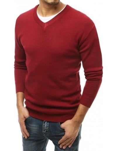 Pánský svetr s výstřihem do V WX1543