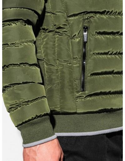 Men's winter quilted jacket C422 - green