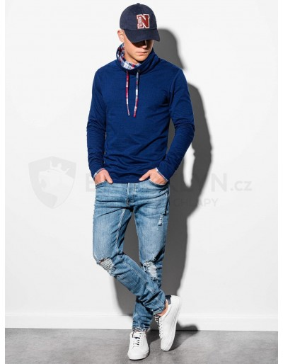 Men's sweatshirt with a stand-up collar B1015 - navy