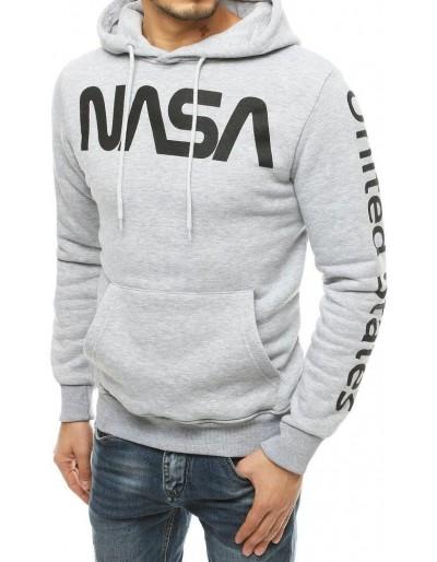 Pánská mikina NASA světle šedá BX4788
