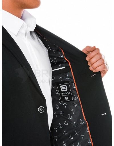 Men's casual blazer jacket M56 - black