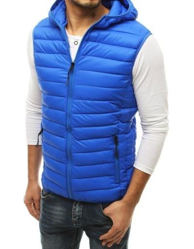 Pánská prošívaná modrá vesta TX3573