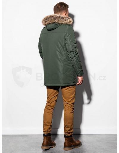 Men's winter parka jacket C410 - olive